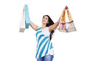 Woman Shopping Bags Coustumer Retail