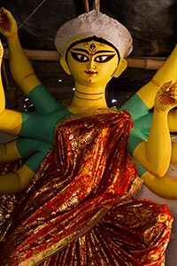 Gods Sculpture Workshop Selling Durga Puja Festiva