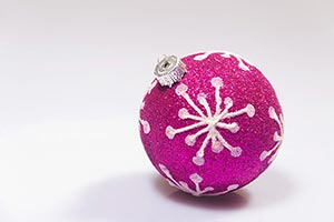 Christmas Pink Red Decorated design