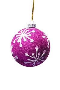 Pink Hanging Christmas Ball Close-Up