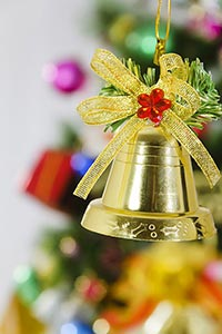 Bell hanging on a christmas tree Decoration Celebr