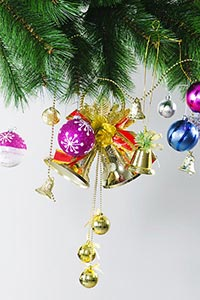 Christmas Tree Hangging ornaments Decorating Celeb