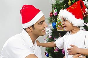 Father Child Boy Christmas christian festival Fun