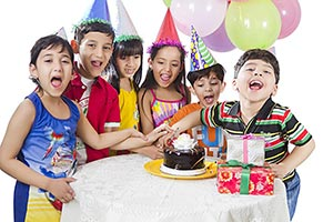Group Kids Celebrating Birthday