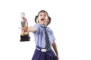School kid Girl Victory Trophy