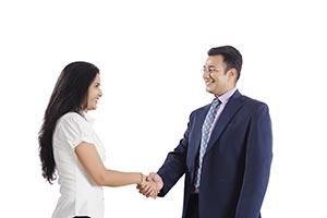 Indian Busines Partners Handshake