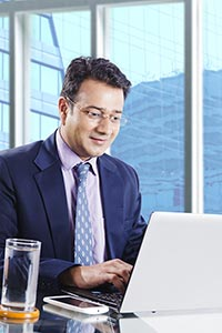 Businessman Office Working Laptop