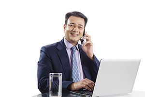 Businessman Manager Laptop Phone