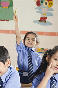 School Kids Raising Hands