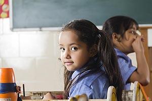 School Kids Girl Student Classroom