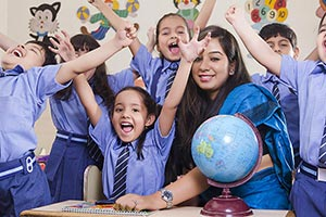 Teacher Kids Students Classroom Shouting
