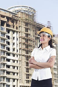 Indian Architect Woman Construction site