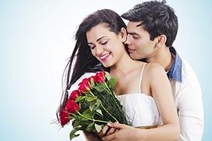 Man Propose Woman Love Valentine Day