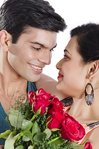 Indian Couple Ramance Valentines Day
