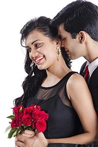 Couple Romance Giving Flowers