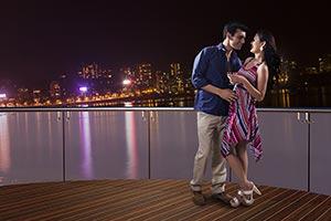 Couple Romance Hotel Balcony Night