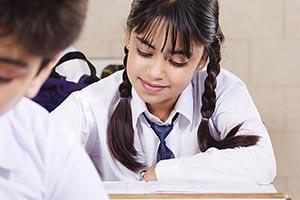 School Girl Student Classroom Studying