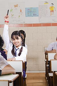 Student Classroom Studying Hand Raised