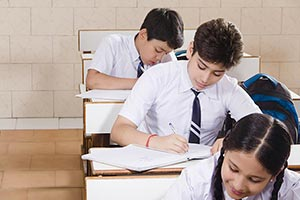 School Students Classroom Studying