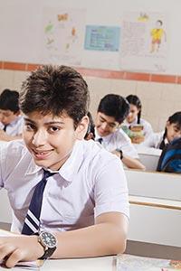 Boy School Student Studying