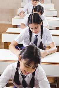 High School Students Studying
