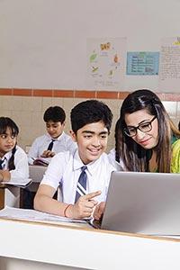 Teacher Student Laptop Guidance