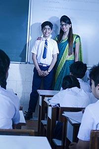 Teacher Teaching Projector Students