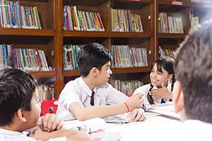 Students Classmate Studying Library