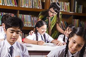 Teacher Teaching Students Library