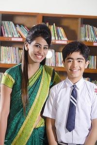 Boy Student Teacher Library