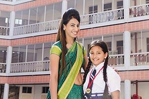Girl Student Teacher Outdoors