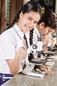 Students Microscope Research Thumbsup