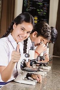 Students Laboratory Microscope Thumbsup