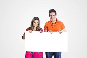 Couple Showing Message Board