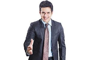 Indian Businessman Handshake Dealing
