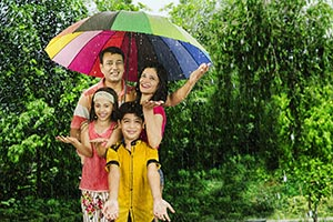 Parents Children Park Rain Umbrella, Protection�