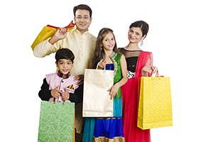 Indian Family Shopping Bags