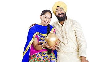 Sikh Married Couple Piggybank Finance Money