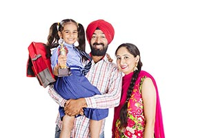 Punjabi Parents Daughter Schoolgirl Victory Trophy