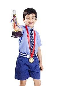 School Little Boy Medal Trophy Success