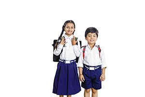 Indian Kids Brother Sister School
