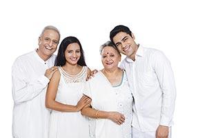 Family Senior Parents Adult Children