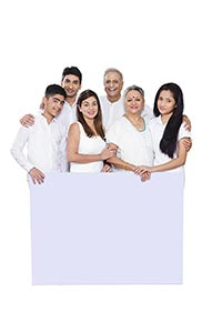 Indian Joint family Showing White Board