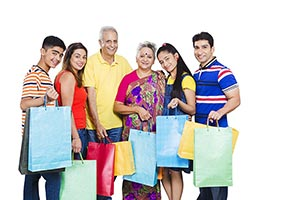 Happy Generations Family Shopping Bags
