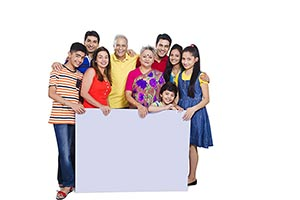 Group Joint Family Holding White Board