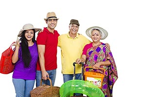 Adult Family Traveling Vacations Holidays Picnic