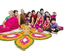 Rangoli Diwali Celebration Phone Self-portrait