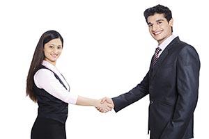 Indian Business Partners Handshaking