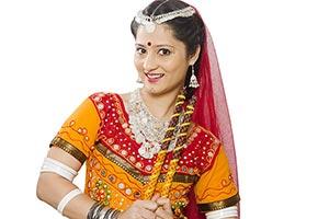 Gujarati Woman Dandiya Sticks