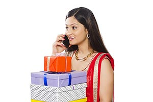 Indian Woman Diwali Gift Gratitude Talking Phone